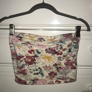 Garage Cropped Floral Tube Top